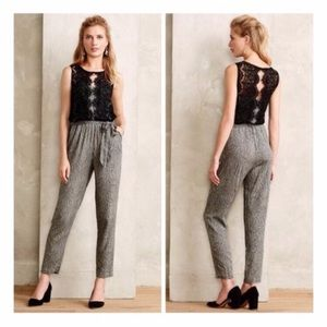 Anthropologie Elevenses Lace Medley Jumpsuit
